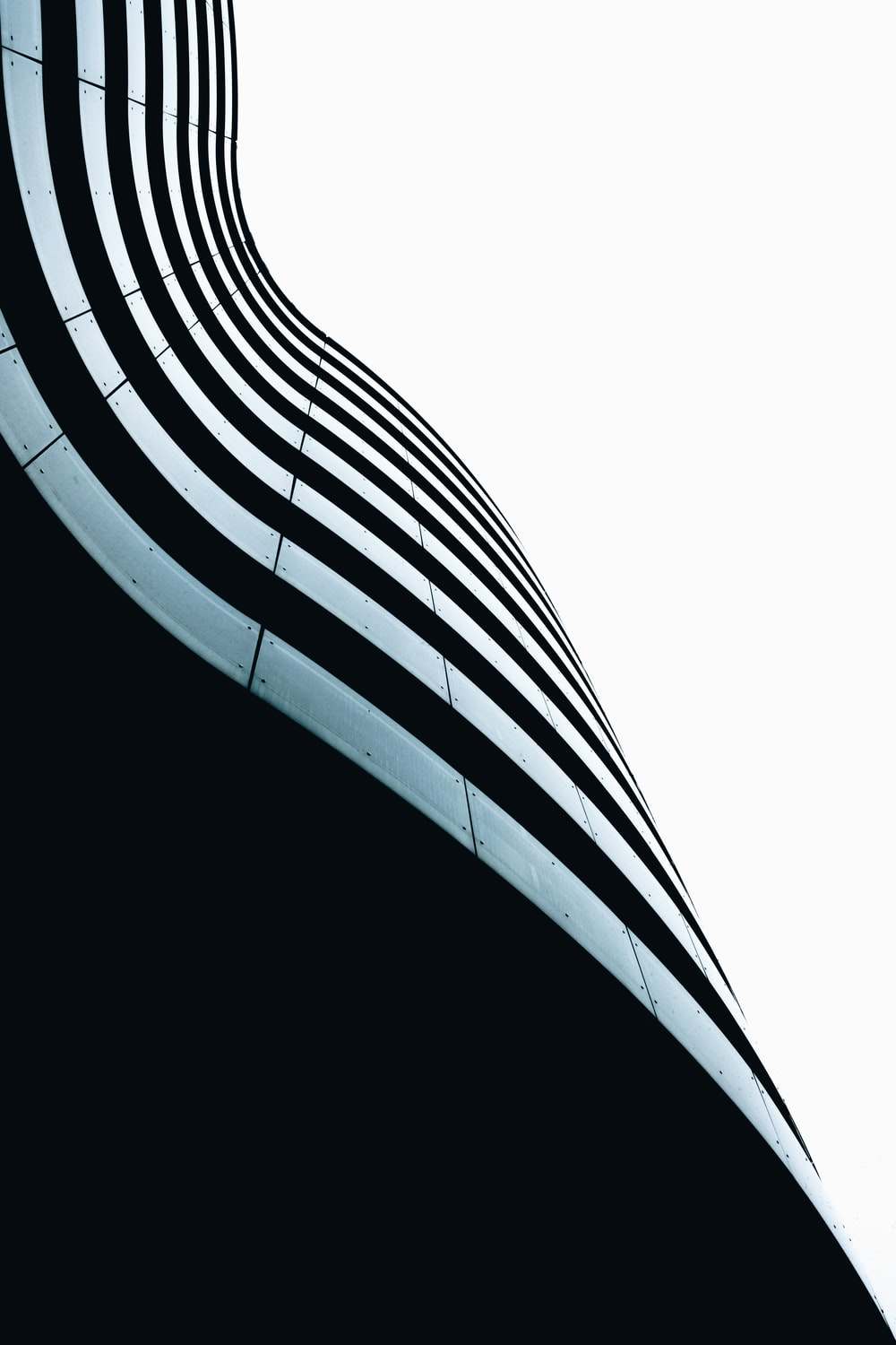 worm's eye view of black building