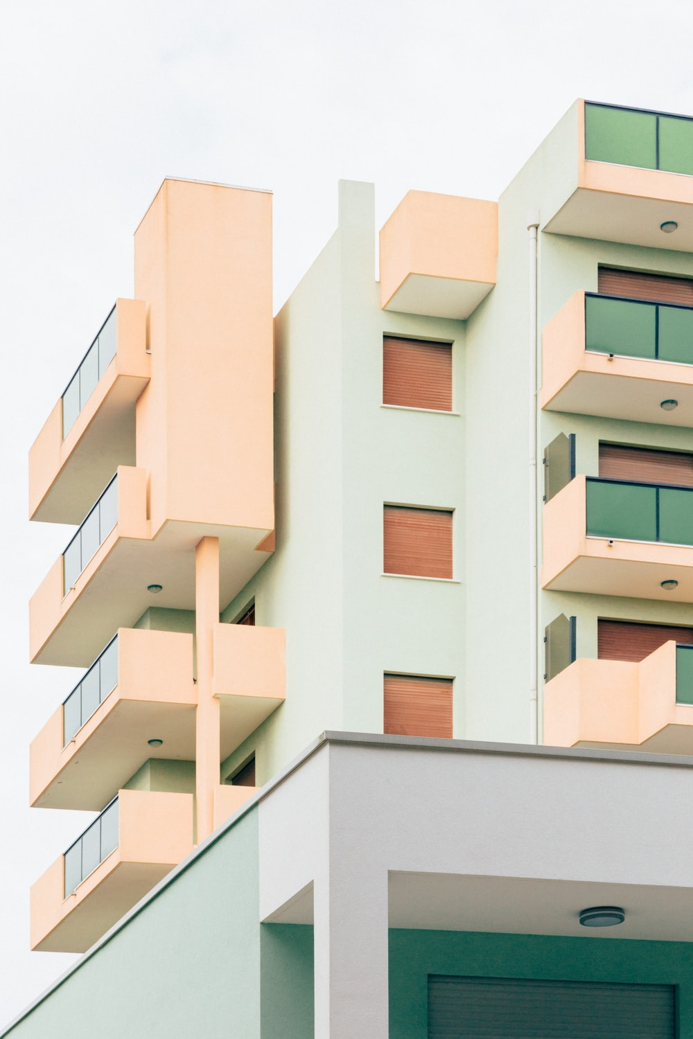 white and pink concrete building