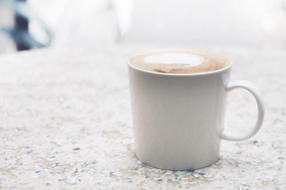 cappuccino coffee in mug