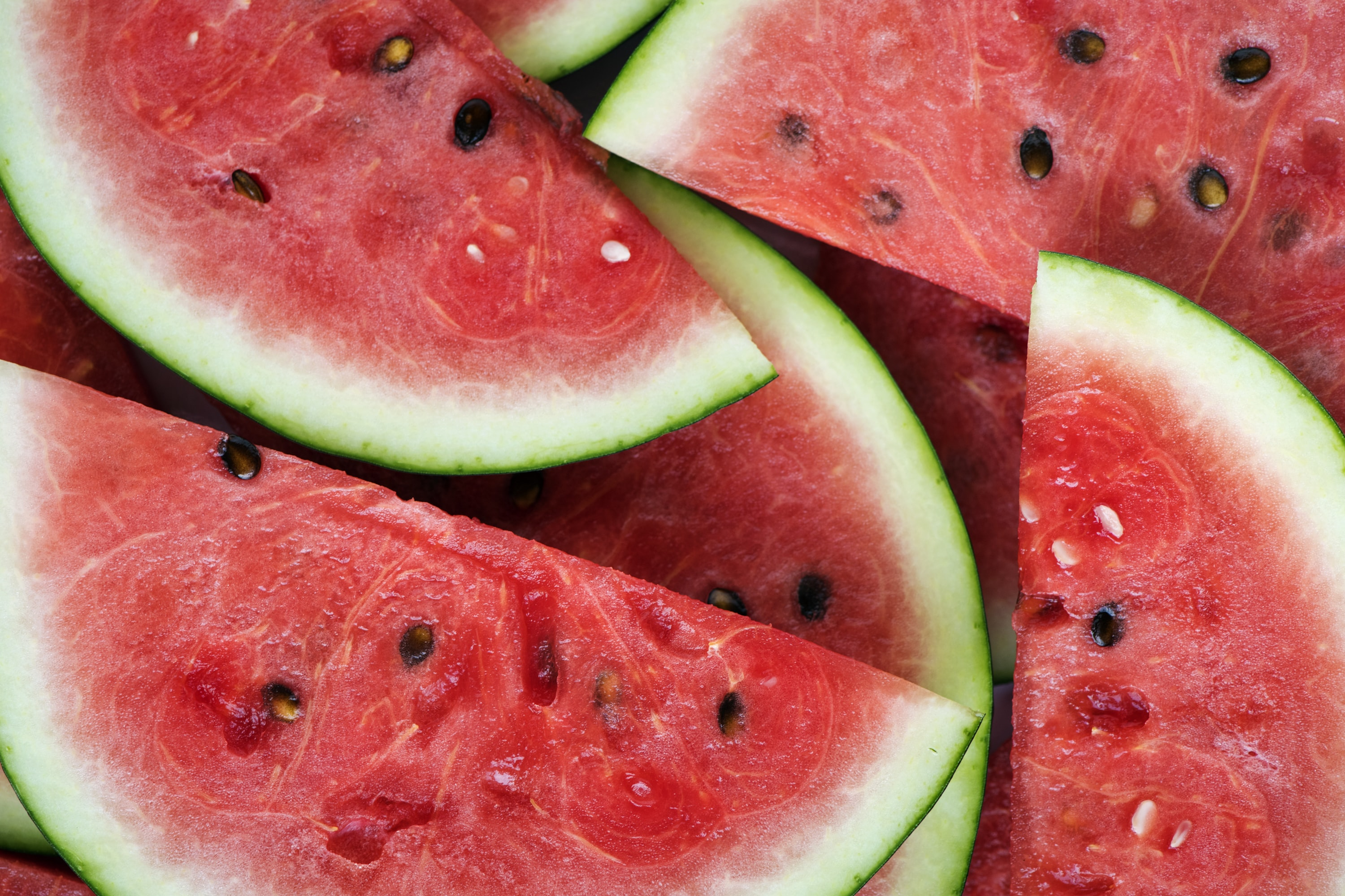 sliced watermelons
