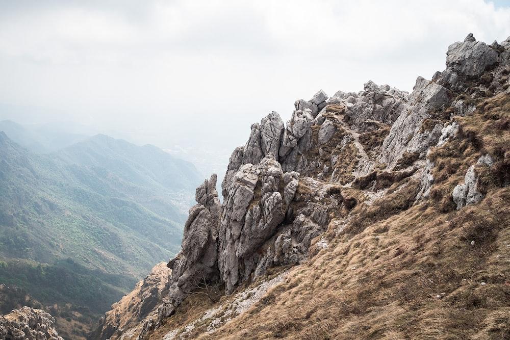 gray rock formation edge