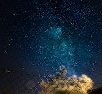 blue sky with stars