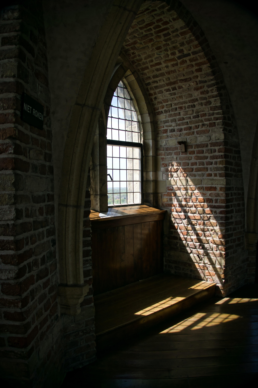 multi-pane window during day