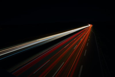 Light trails of the highway