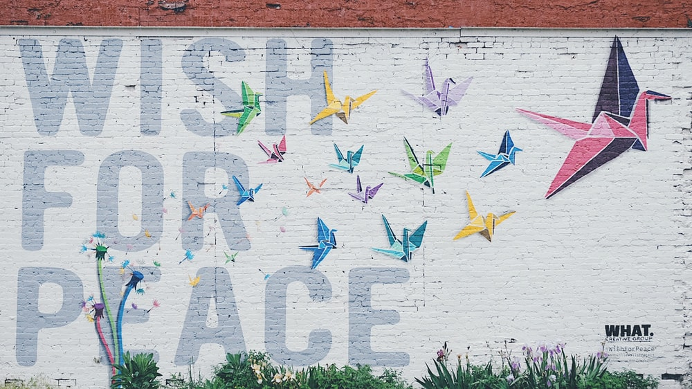 wish for peace-printed wall long exposure photography
