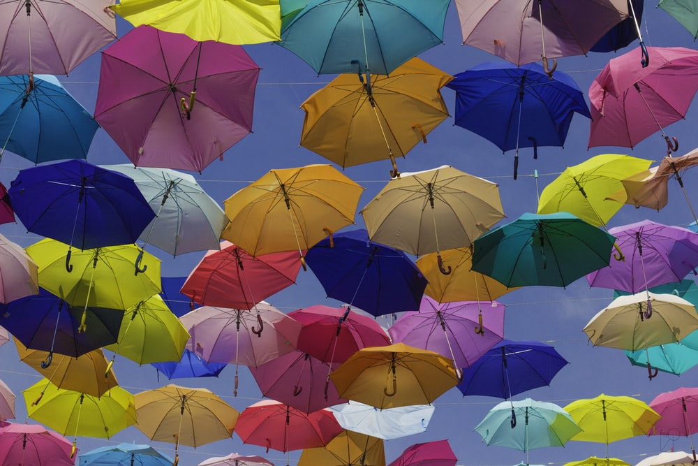 assorted umbrellas