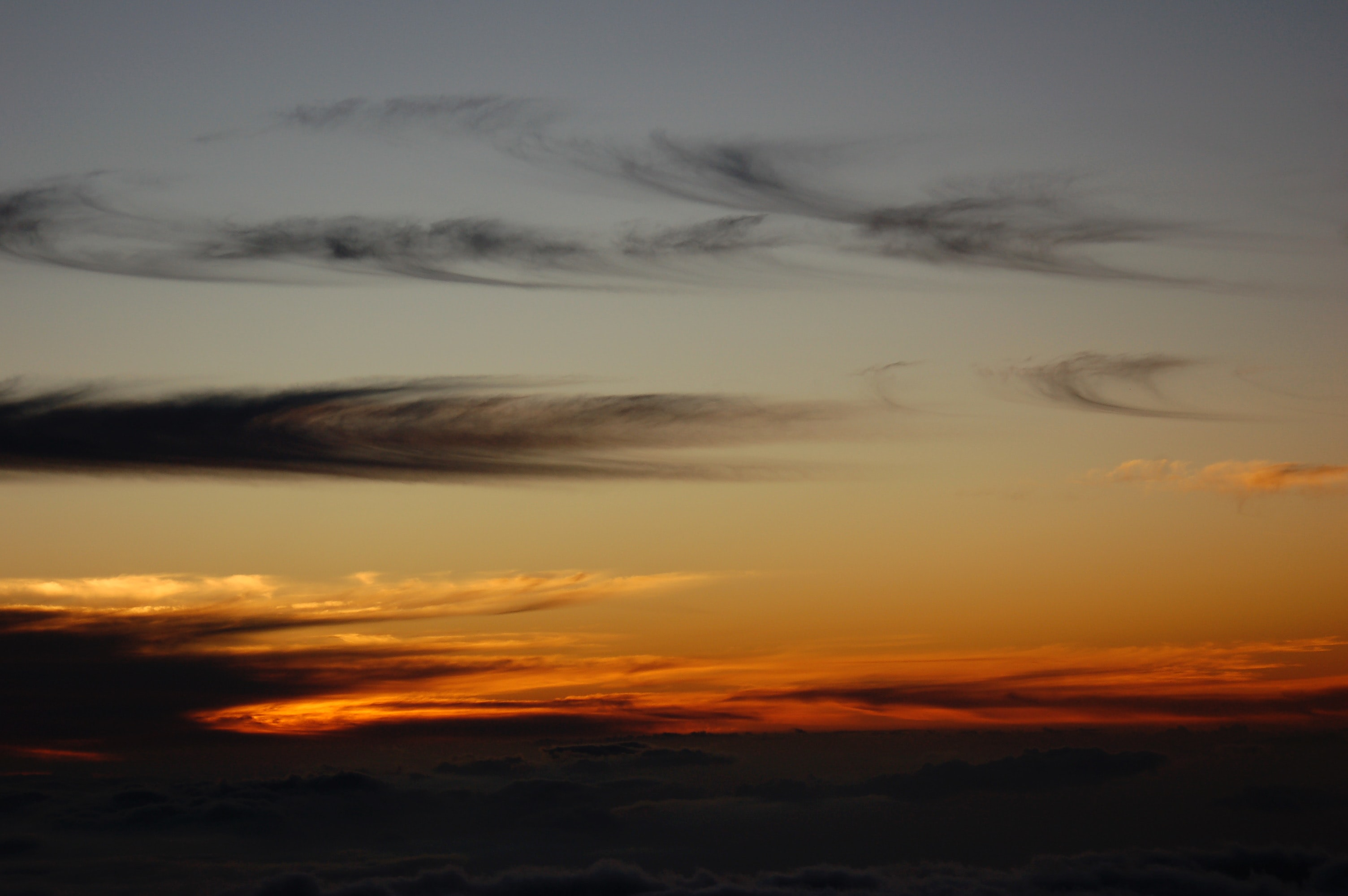 aerial photo of golden hour sky