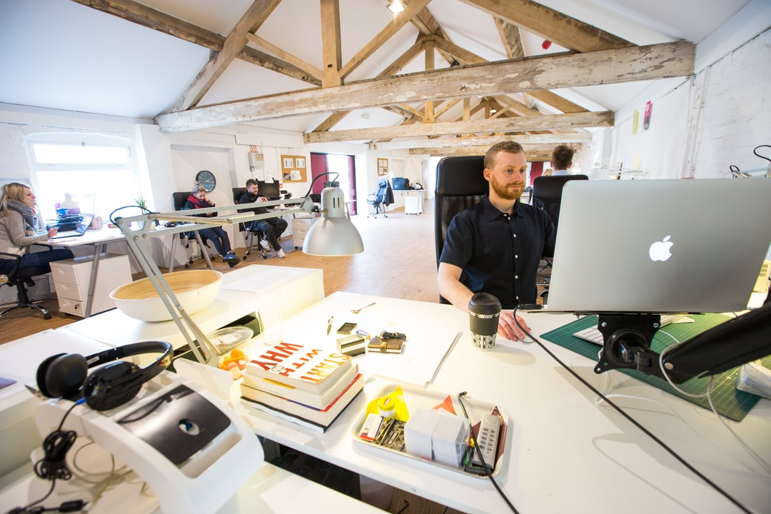 Modern rustic office space