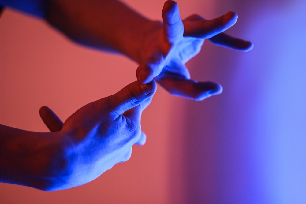 person showing hand gesture