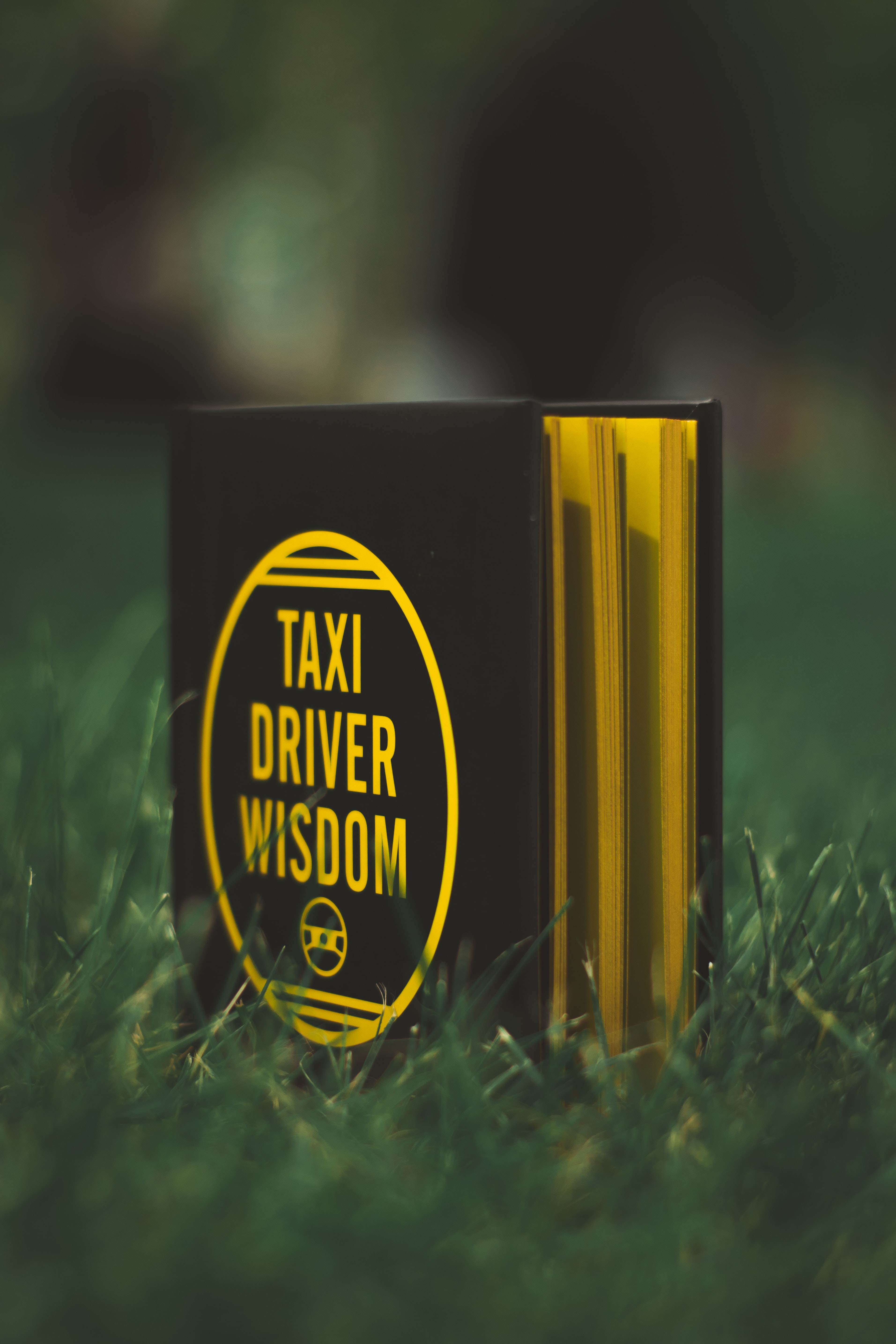 black and gold Taxi Driver Wisdom signage
