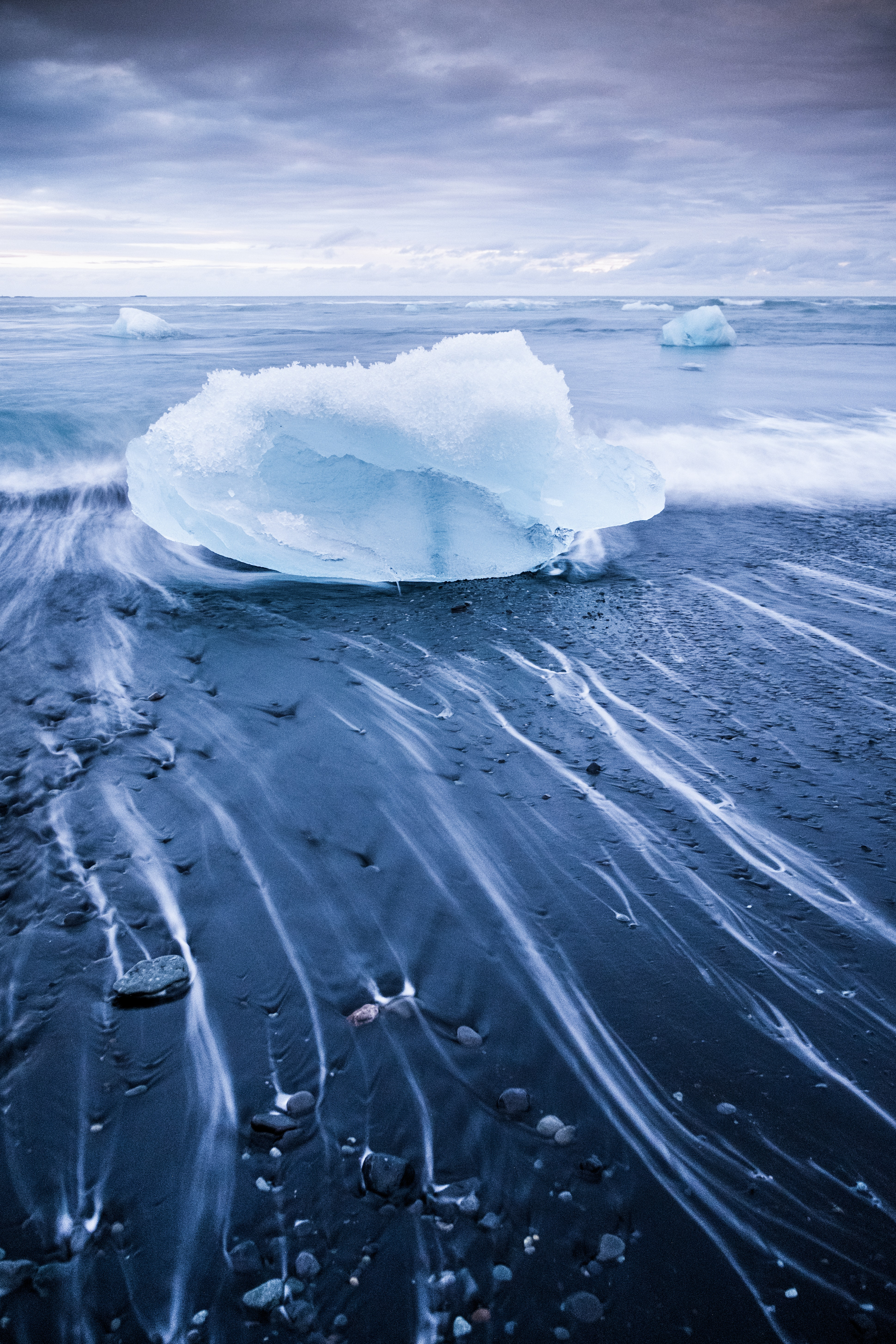 time lapse photography of ice berg