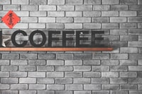 coffee freestanding letters decor