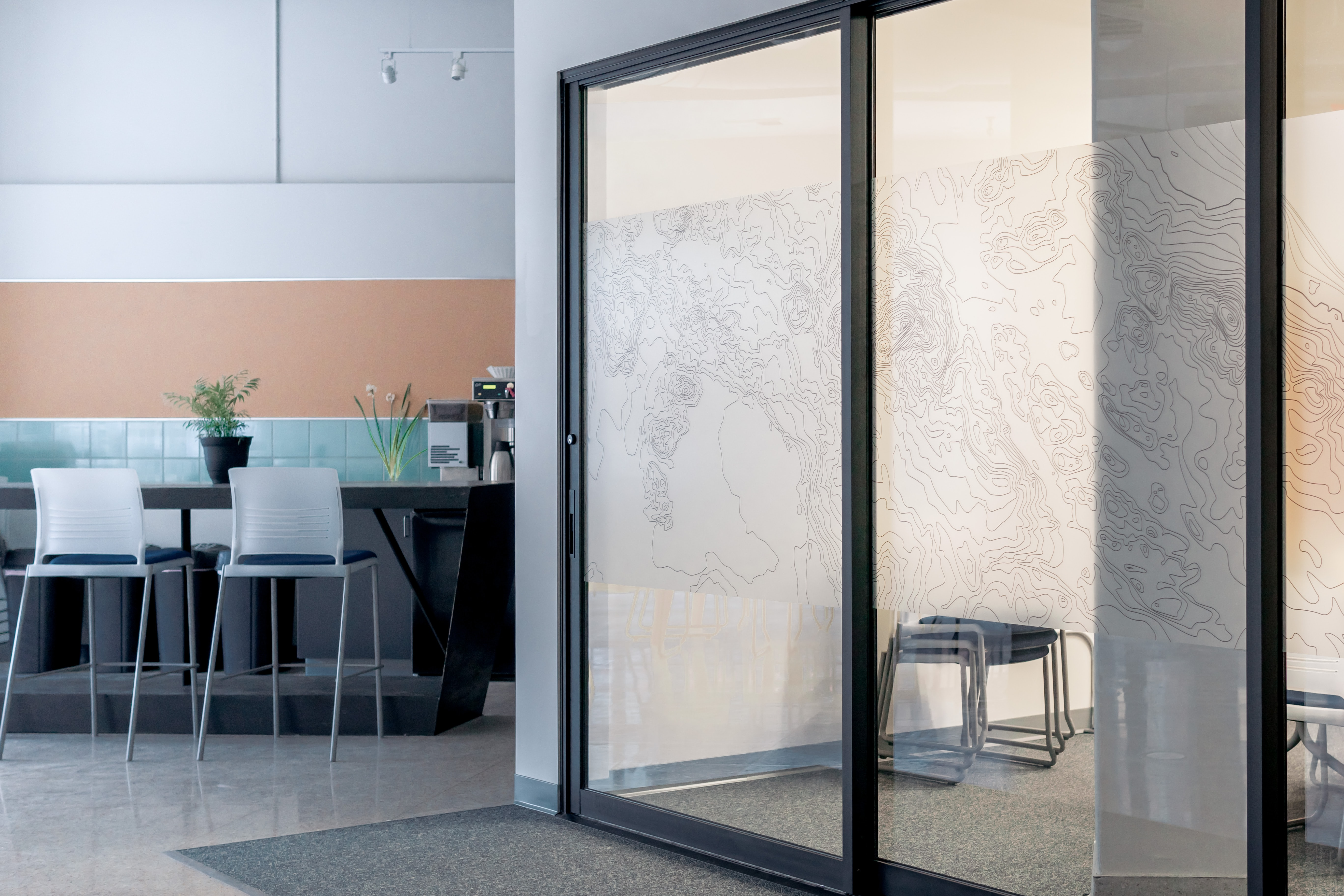 sliding door beside wall
