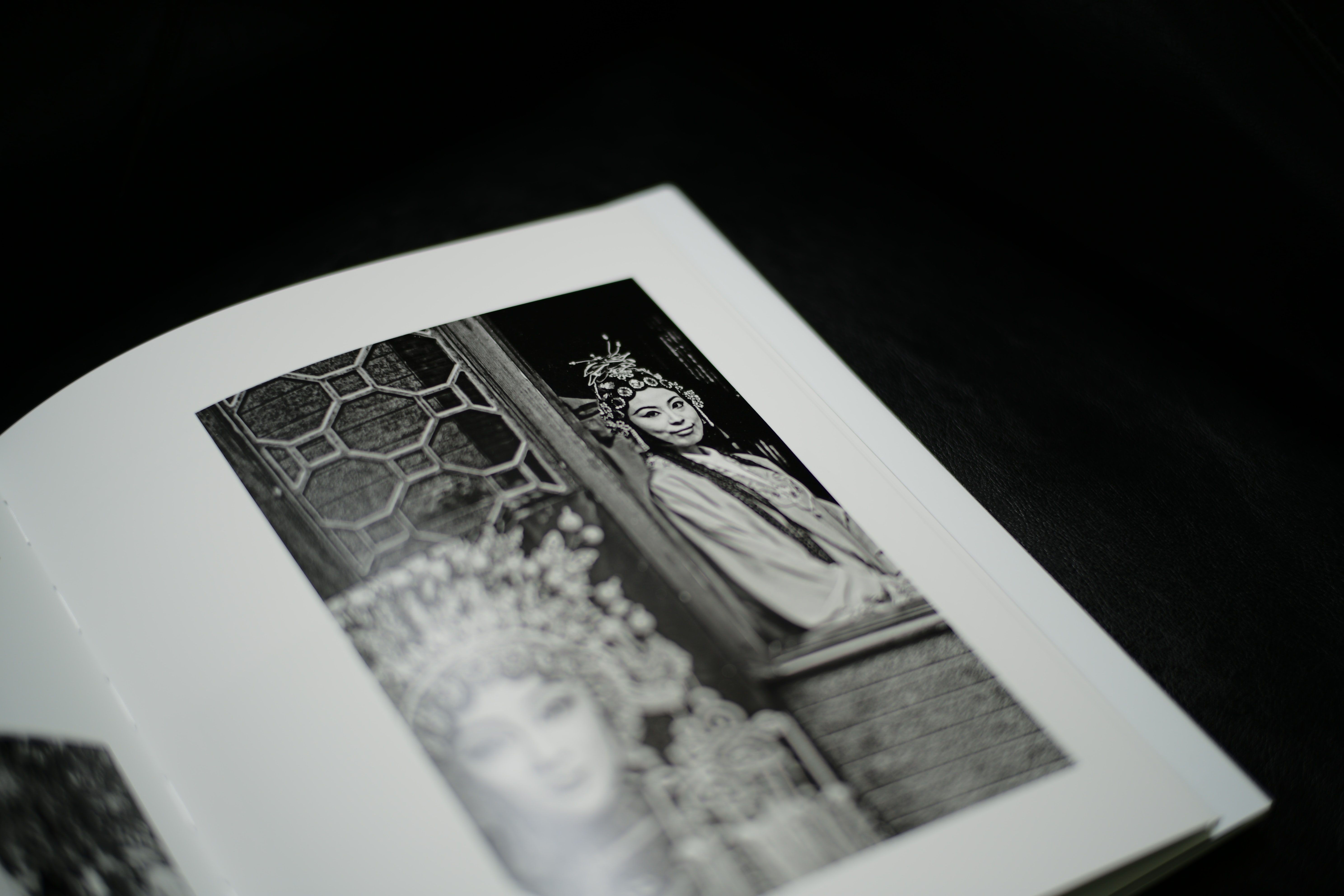 woman photo on book page