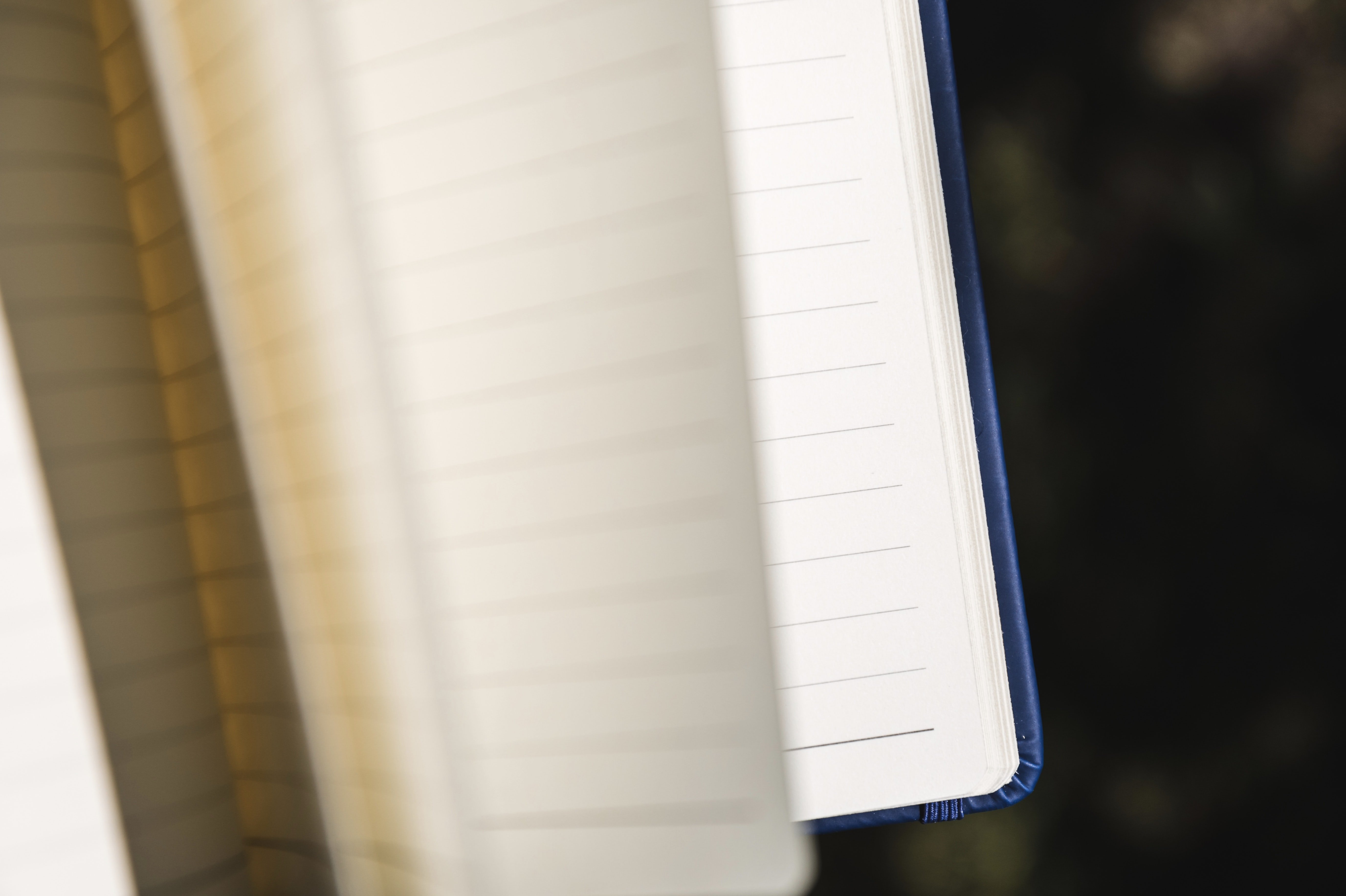 open page notebook