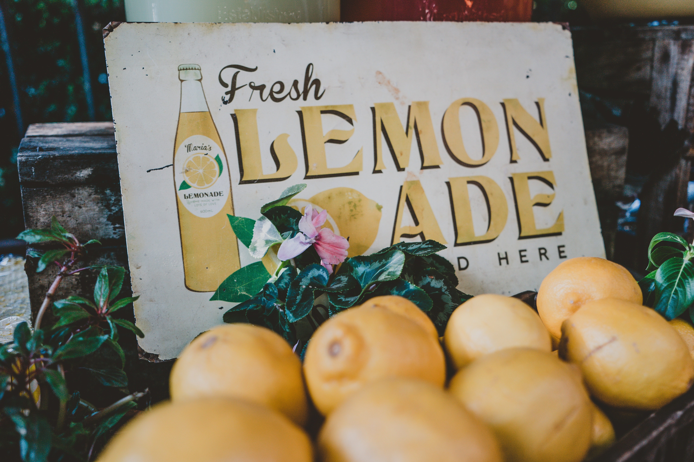 lemonades on tray