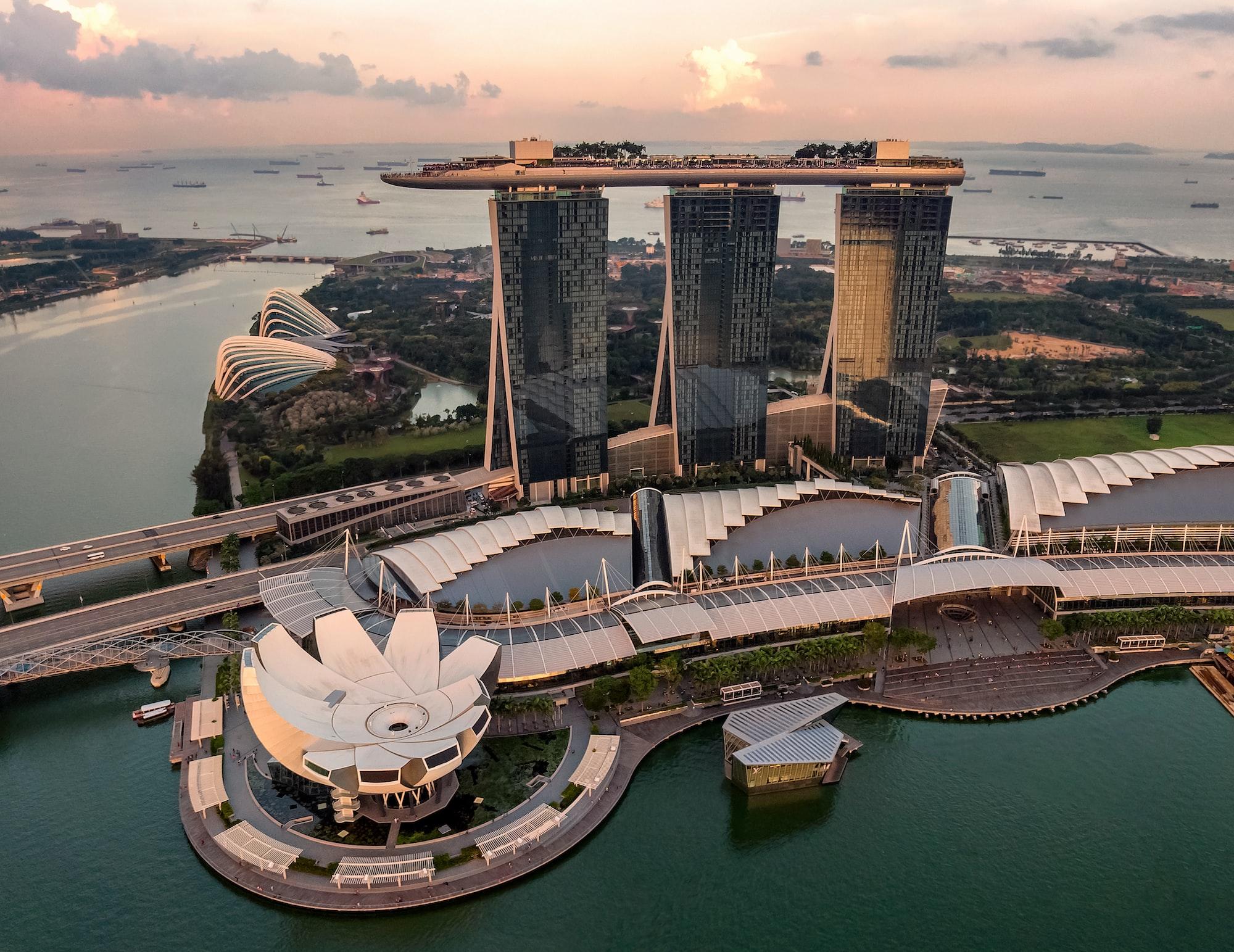 Singapore in sunset