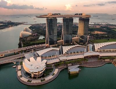 marina bay sands, singapore singapore zoom background