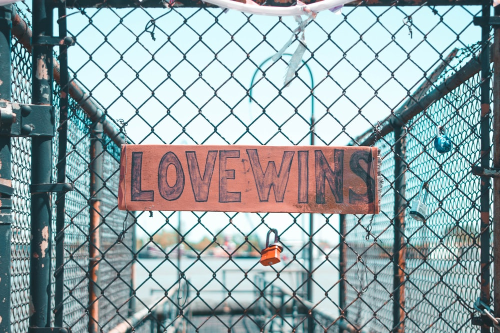 Love Wins-printed signage