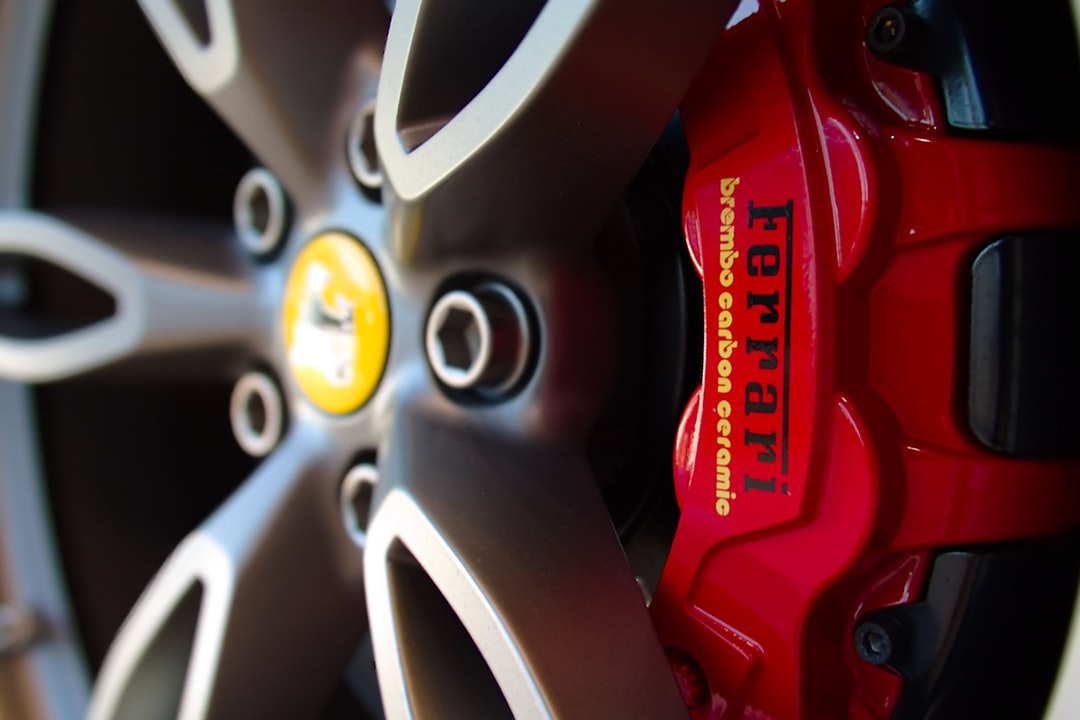 Ferrari Wheel with yellow and red accents.