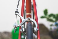 shallow focus photo of bicycle brake