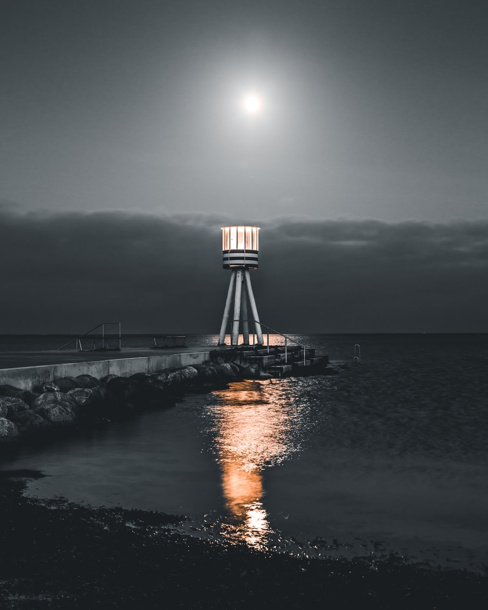 The lonely lighthouse in Reykjavik | HD photo by Erik