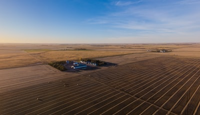 aerial view of brown farm south dakota teams background