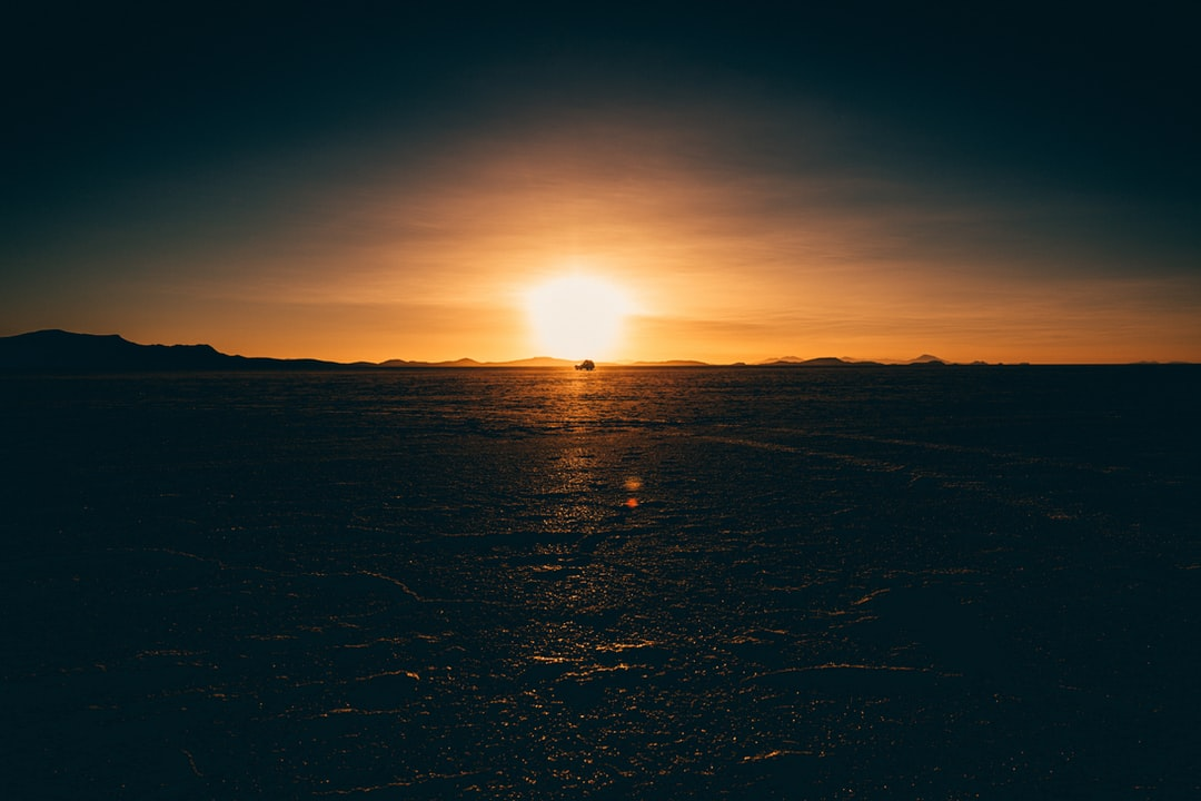 Traveling across the Salt Flats of Bolivia.