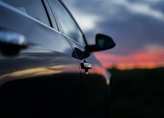 closeup photo of car door