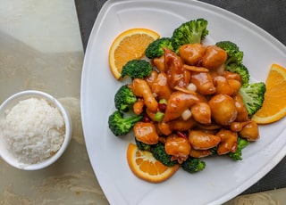 orange fillet with broccoli