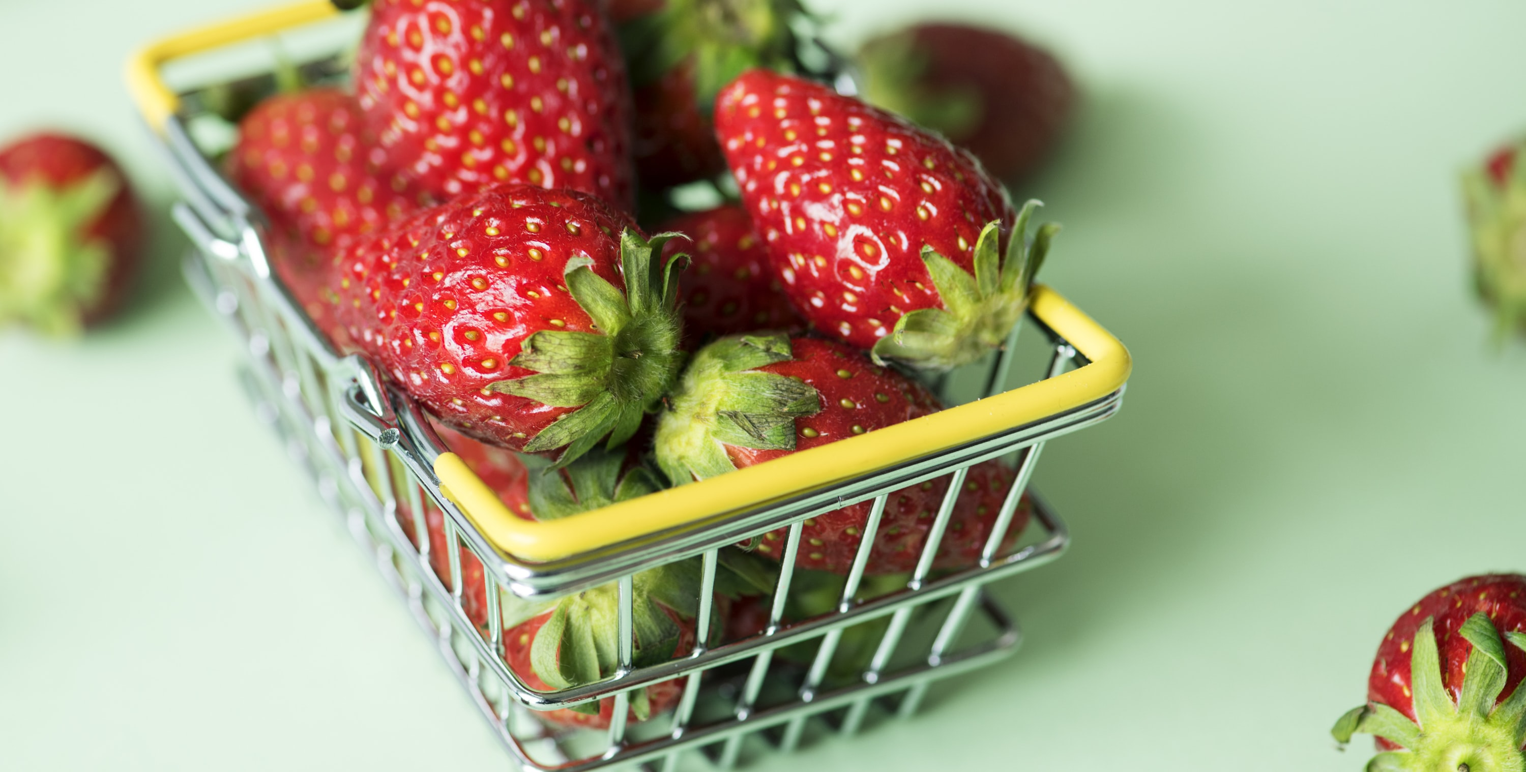 closeup photo of strawberries in baket