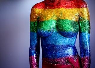 body glitter artwork