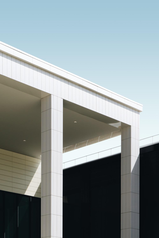 white building pillar