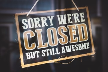 Sorry We're closed but sill awesome