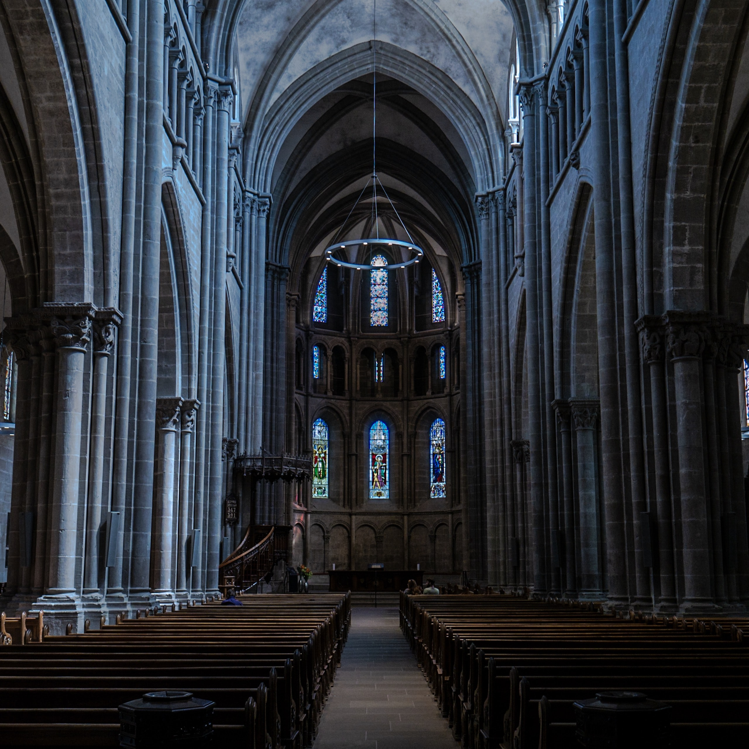 interior photography of empty cathedral