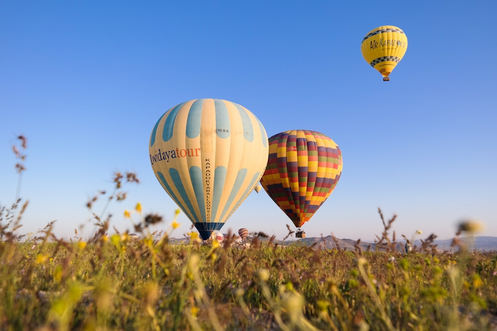 hot air balloons going to fly