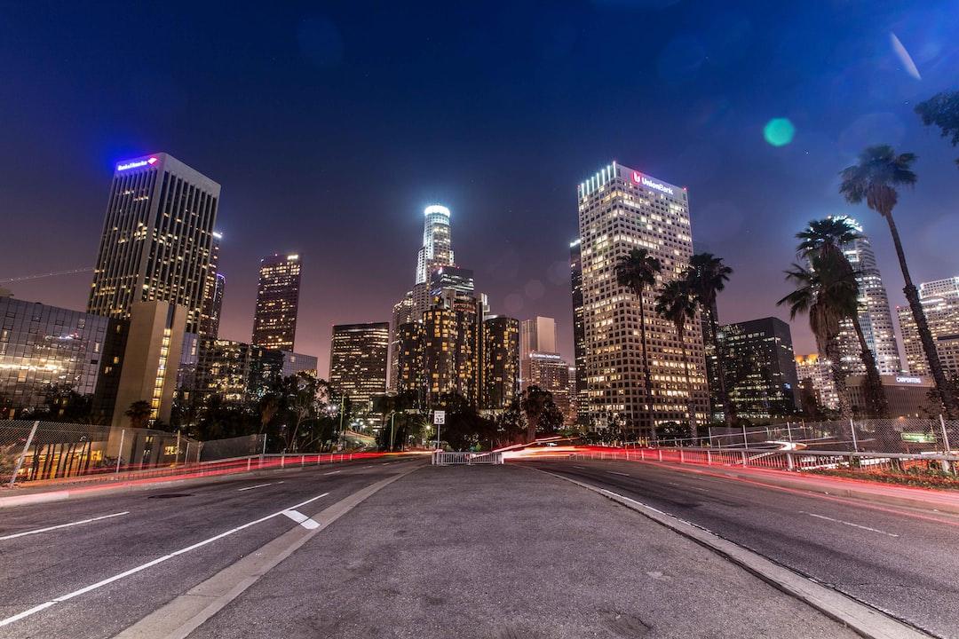 Los Ángeles, California. Skyline nocturno
