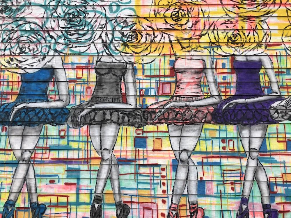Color Pencil Drawing Of Ballerinas
