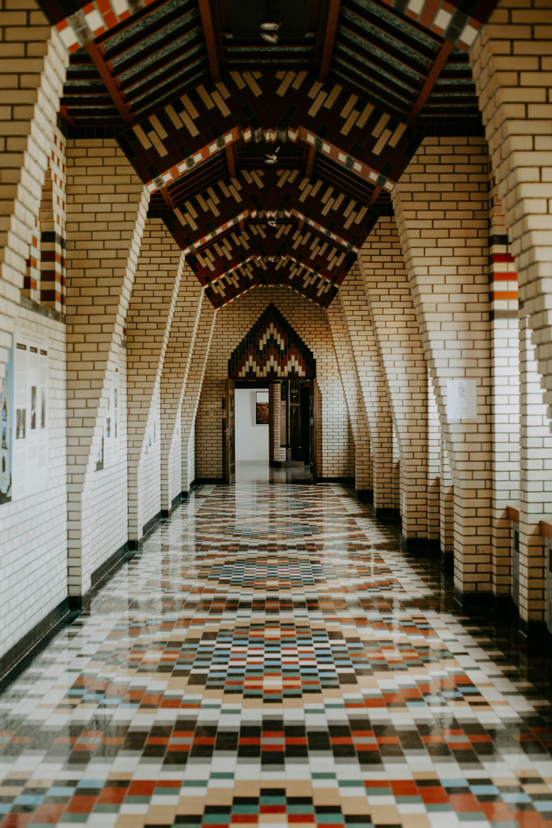 I was traveling with some friends to Quebec over a holiday weekend and we stopped by a monastery because they were known to make really good cheese. (Spoiler: the cheese shop had closed for the day) but we did wander around the place for a bit. I really liked this hallway because it reminded me of a corridor you'd walk down if you went to a public school, college, or other government building - but in the best kind of way. It was dated but warm, nothing stood out too much, but it still has some visual interest It created a sort of nostalgia for me and I was digging that.