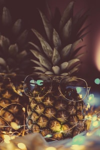 eyeglasses with frames on pineapple