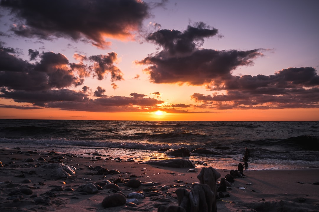 Amazing cloudy sunset in Denmark last week.