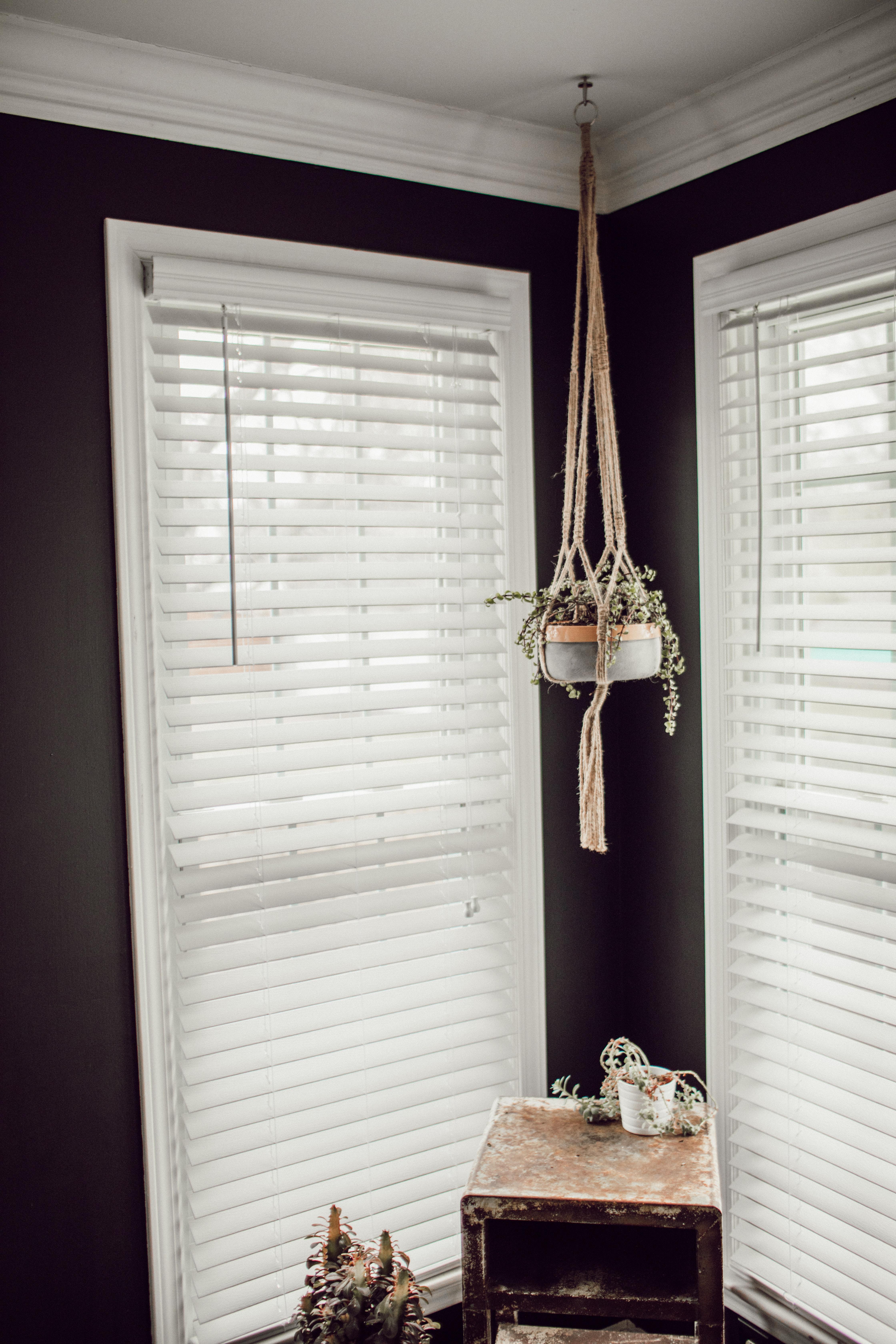 white window blind curtains on glass windows
