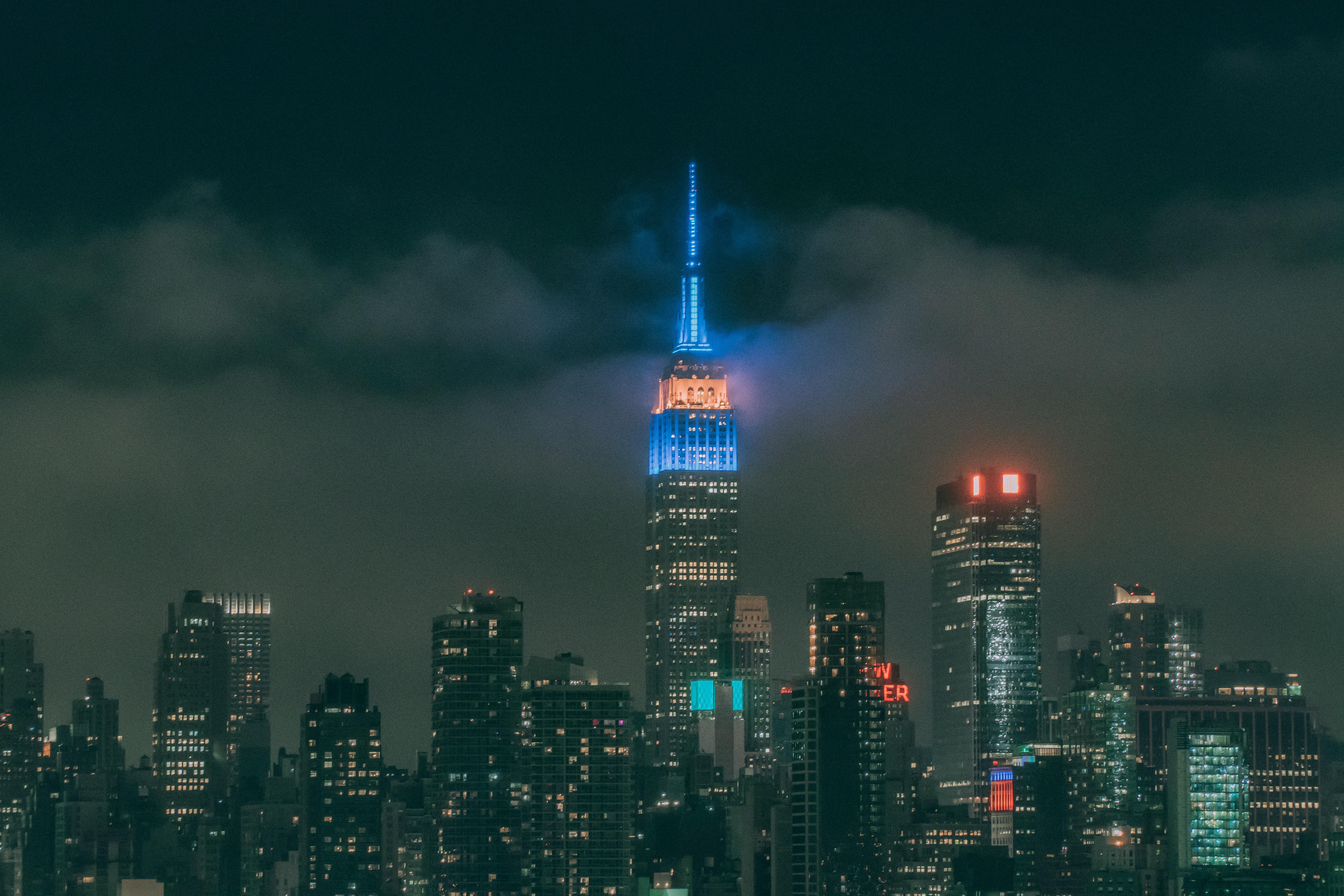 night cityscape building