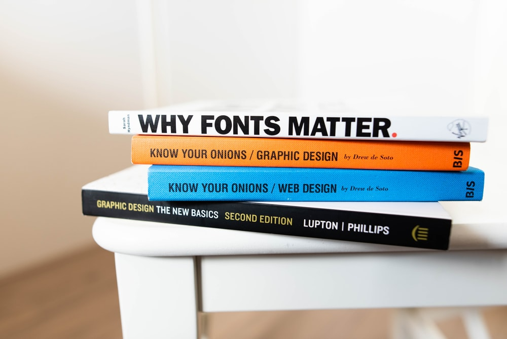 four assorted books