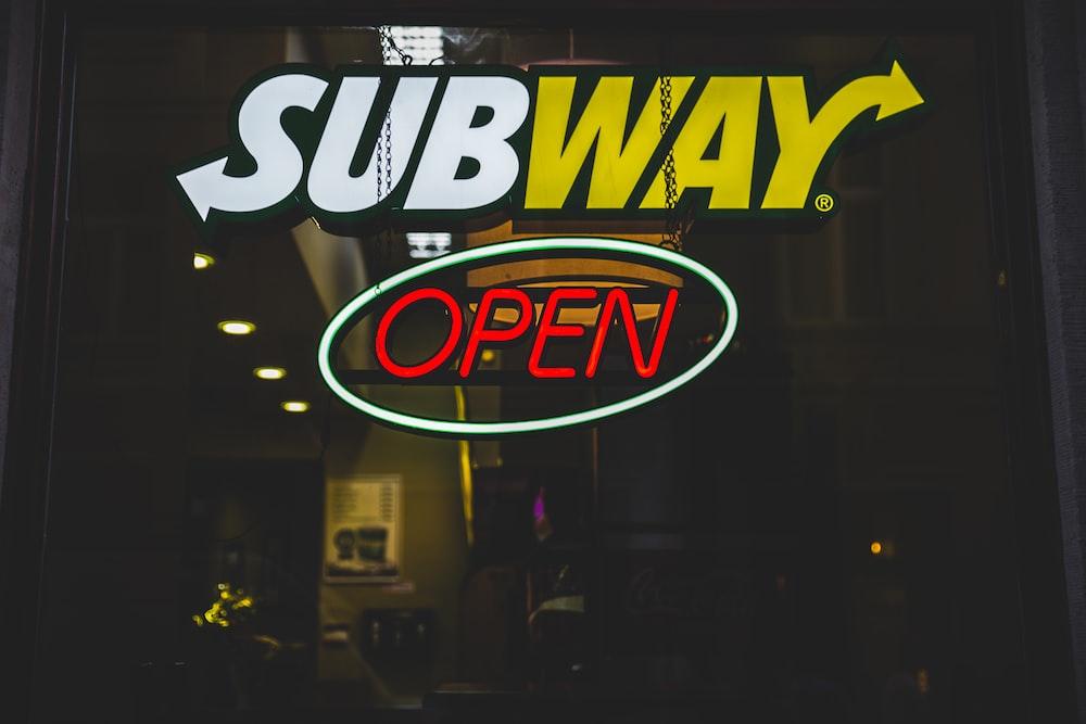 Subway open signage