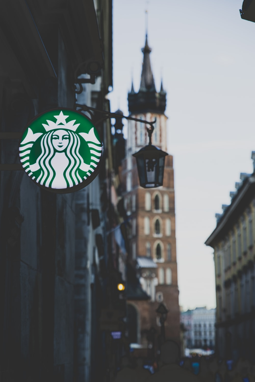 Starbucks neon sign on wall
