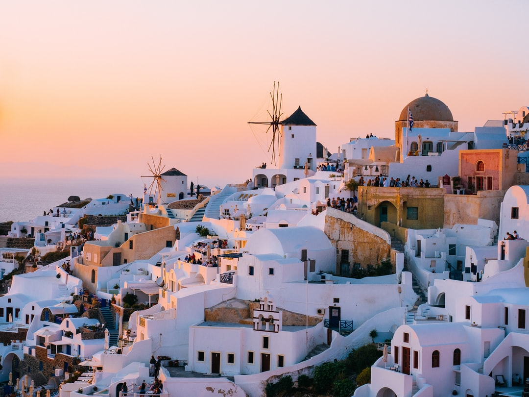 Those moments in life when you understand that in front of your eyes is happening a rare show of beauty.Sunset in Oia Santorini was one of those moments. Magical Greece