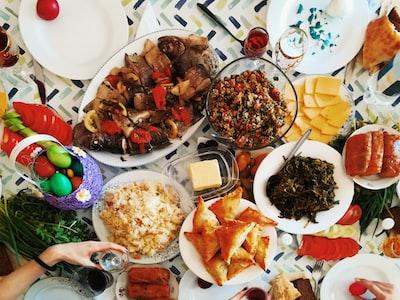 Easter dinner time in Armenia