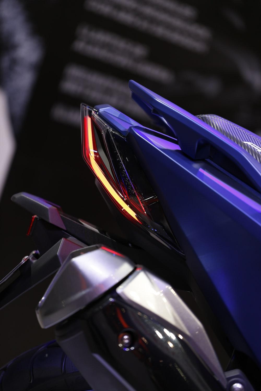 photo of purple motorcycle