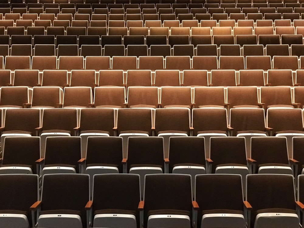 empty brown theater chairs